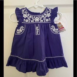 NEW- Carter's- Baby Girl Dress- Size 6 mo.